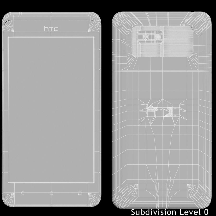 HTC Desire 400ライトブルーバージョン royalty-free 3d model - Preview no. 21