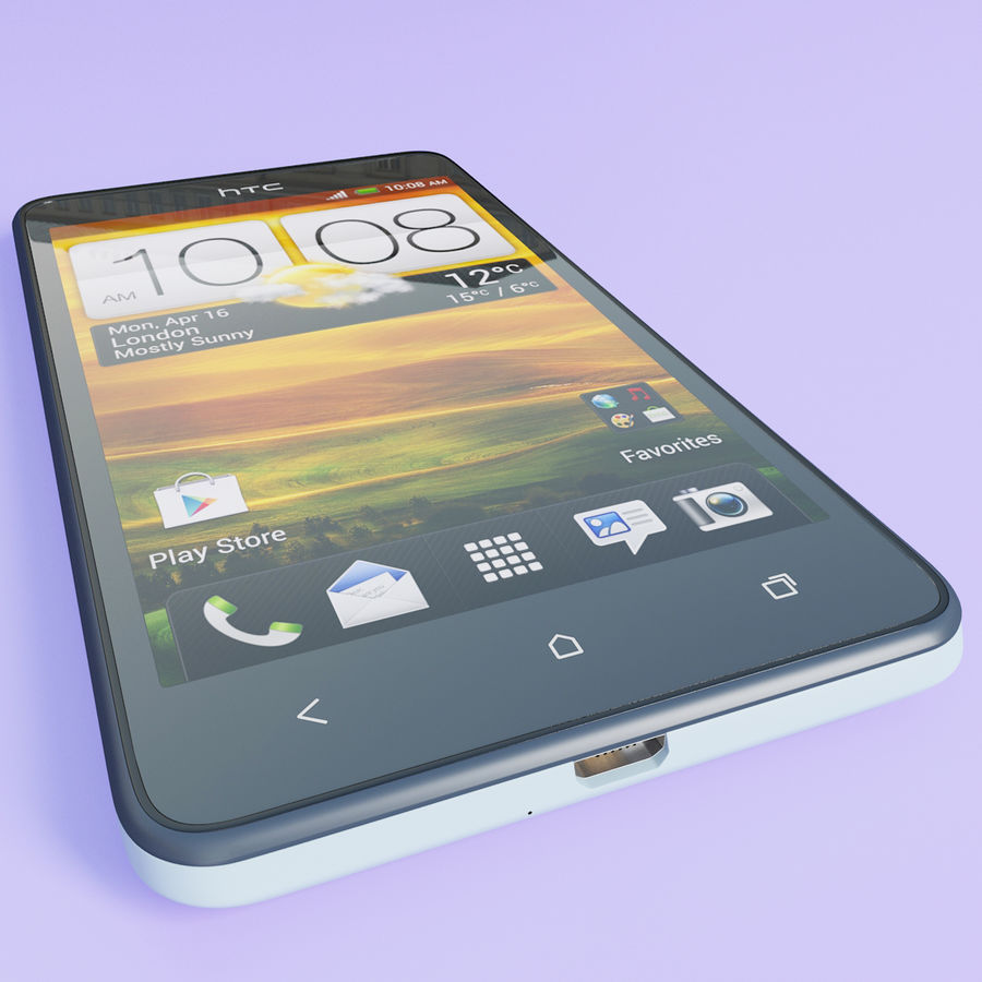 HTC Desire 400ライトブルーバージョン royalty-free 3d model - Preview no. 9