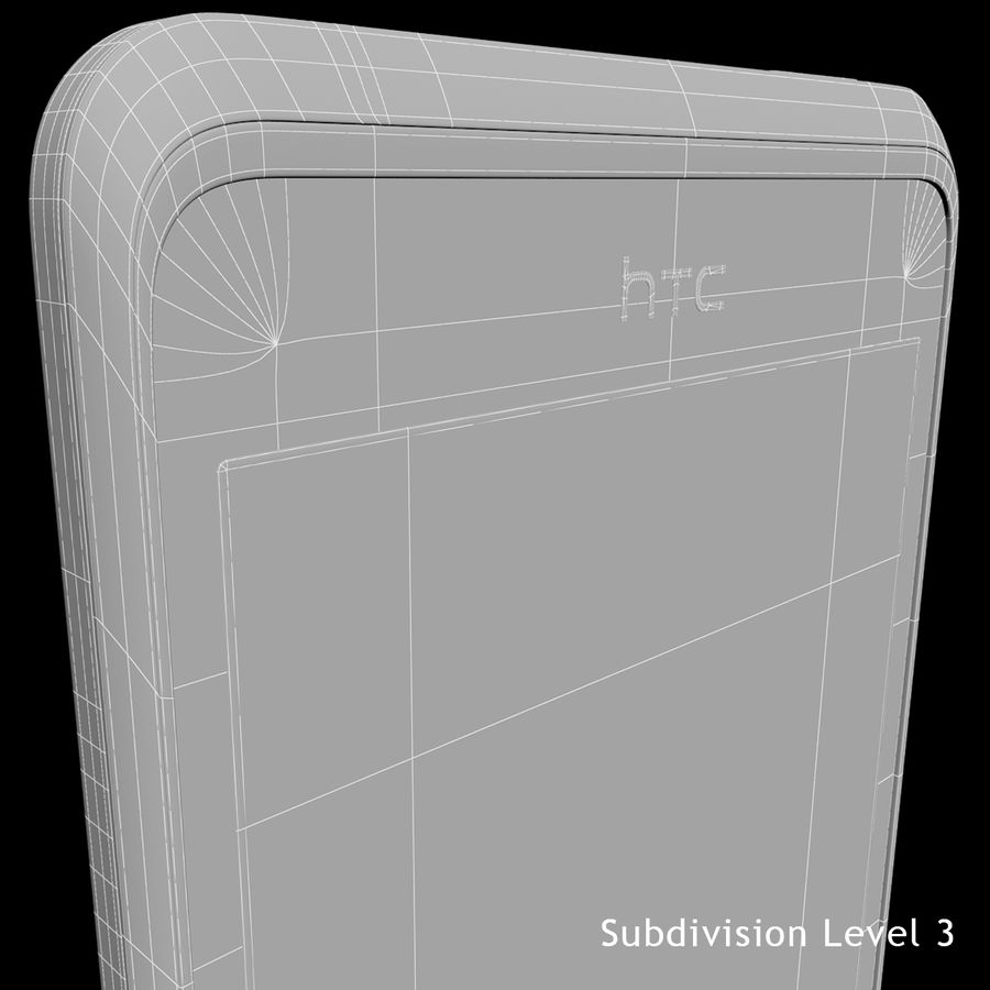 HTC Desire 400ライトブルーバージョン royalty-free 3d model - Preview no. 33