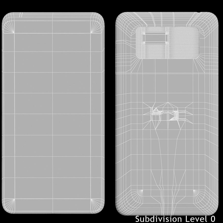 HTC Desire 400ライトブルーバージョン royalty-free 3d model - Preview no. 18