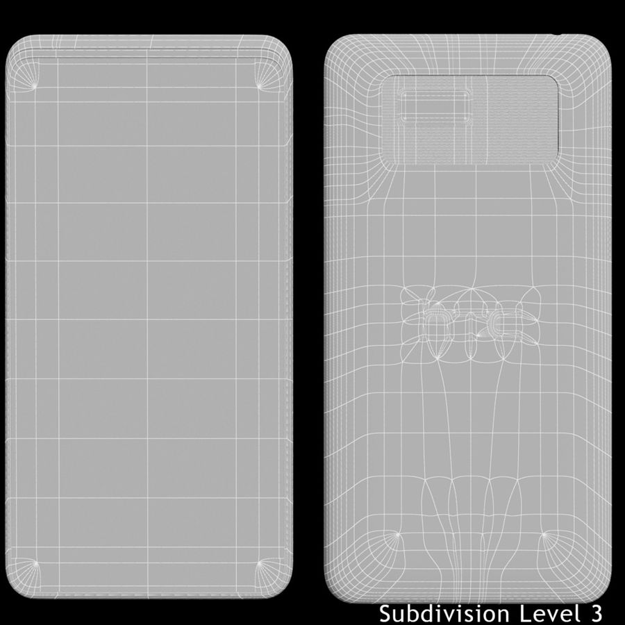 HTC Desire 400ライトブルーバージョン royalty-free 3d model - Preview no. 20
