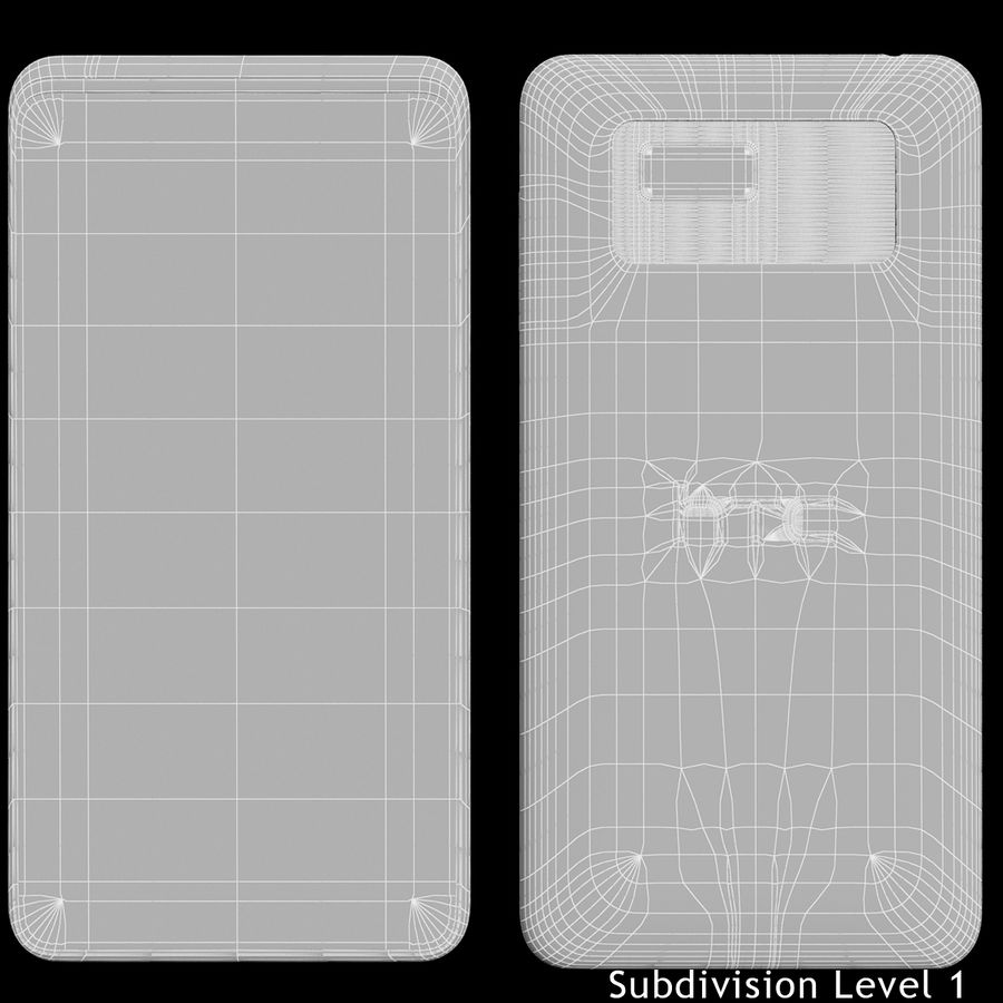 HTC Desire 400ライトブルーバージョン royalty-free 3d model - Preview no. 19