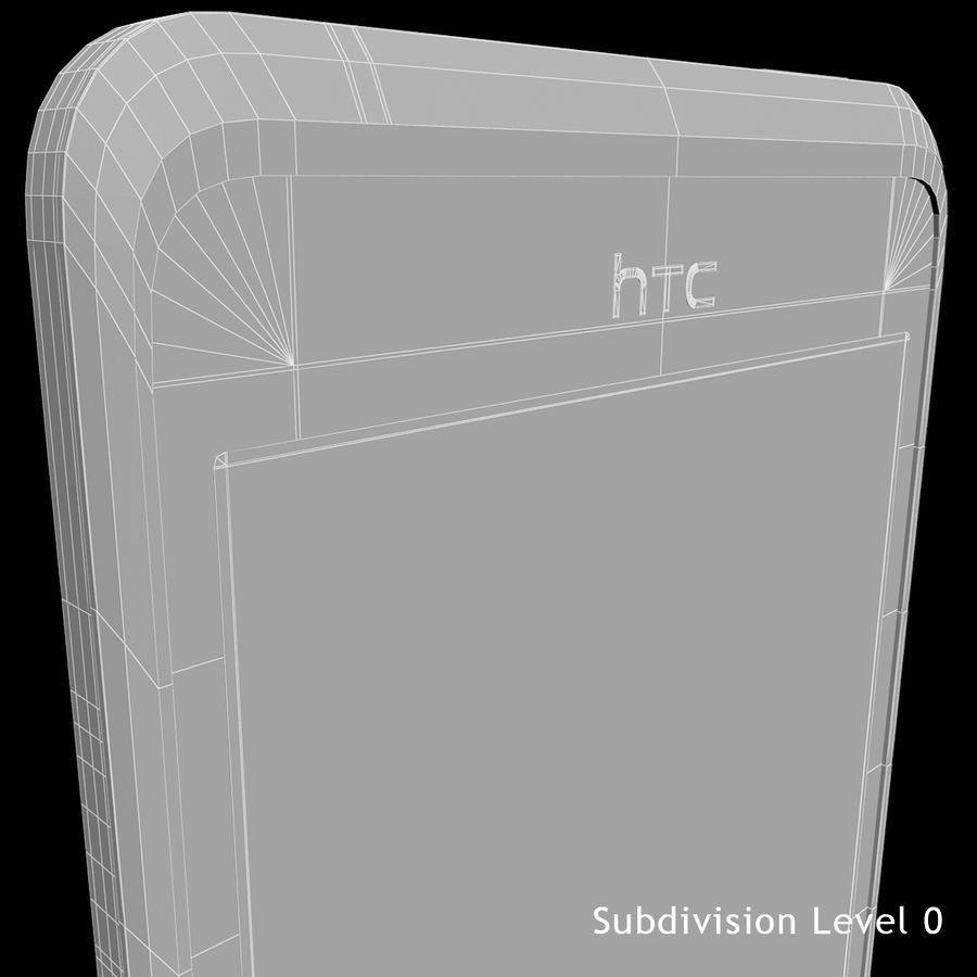 HTC Desire 400ライトブルーバージョン royalty-free 3d model - Preview no. 32