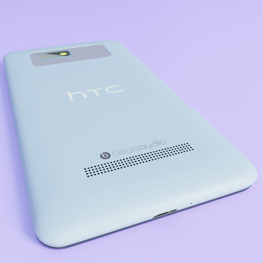 HTC Desire 400ライトブルーバージョン royalty-free 3d model - Preview no. 8
