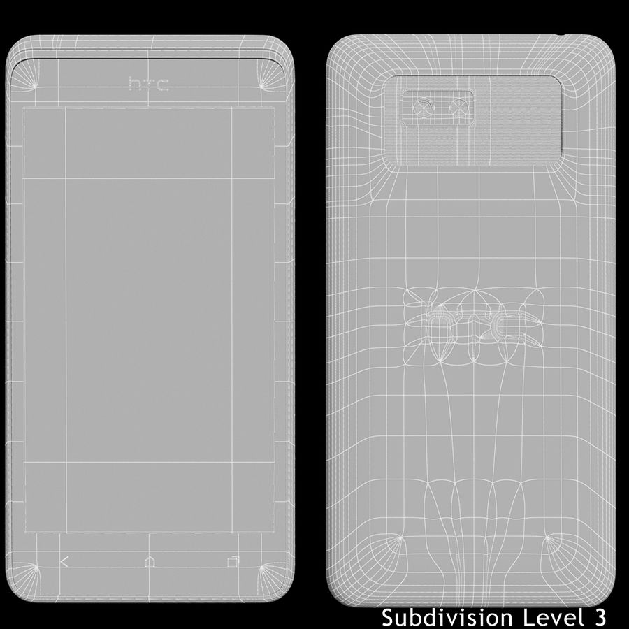 HTC Desire 400ライトブルーバージョン royalty-free 3d model - Preview no. 23