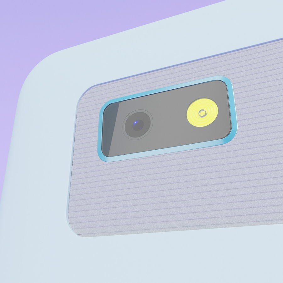 HTC Desire 400ライトブルーバージョン royalty-free 3d model - Preview no. 6