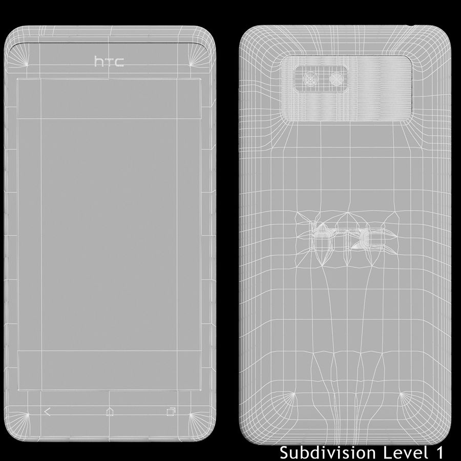 HTC Desire 400ライトブルーバージョン royalty-free 3d model - Preview no. 22