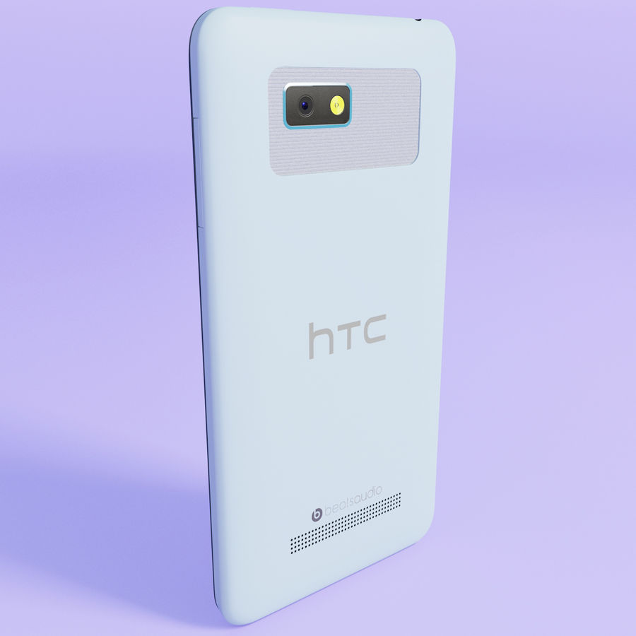 HTC Desire 400ライトブルーバージョン royalty-free 3d model - Preview no. 5