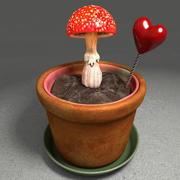 Paddestoel Plant Pot 3d model