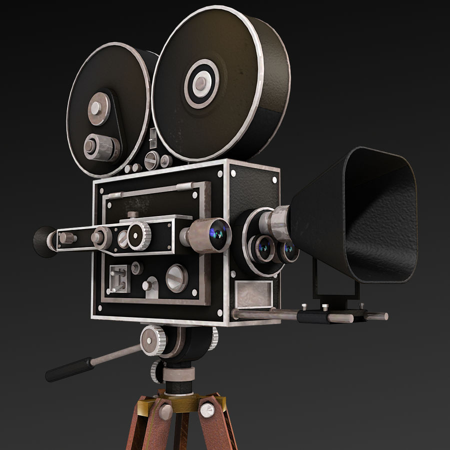 Movie Camera royalty-free 3d model - Preview no. 2