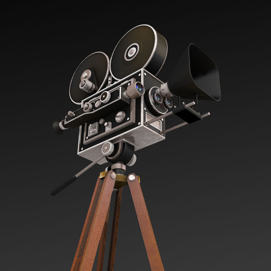 Movie Camera royalty-free 3d model - Preview no. 7