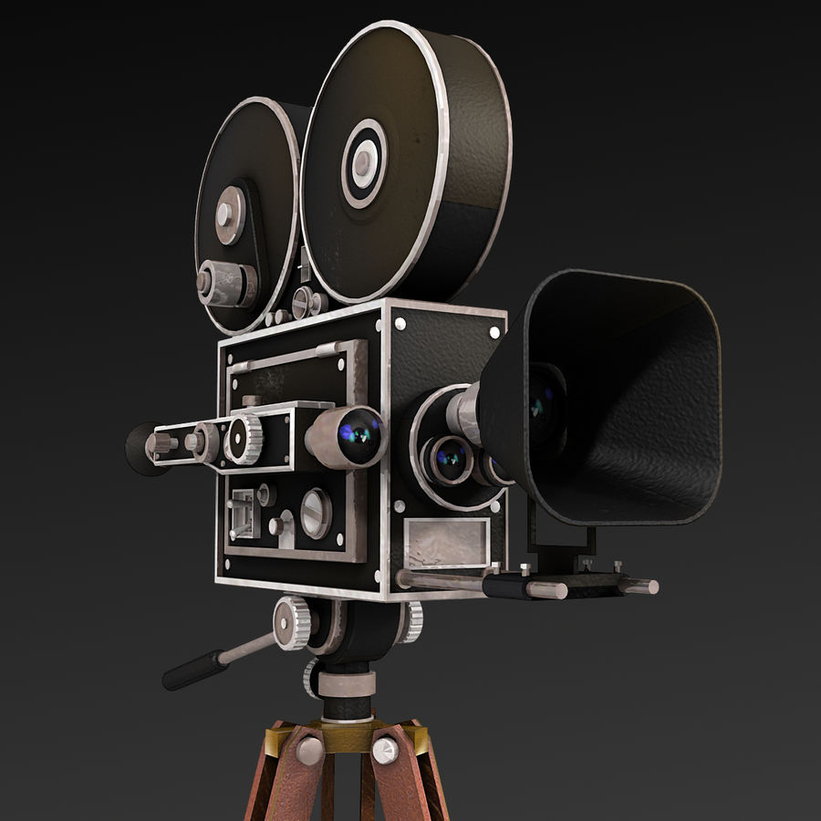 Movie Camera royalty-free 3d model - Preview no. 3