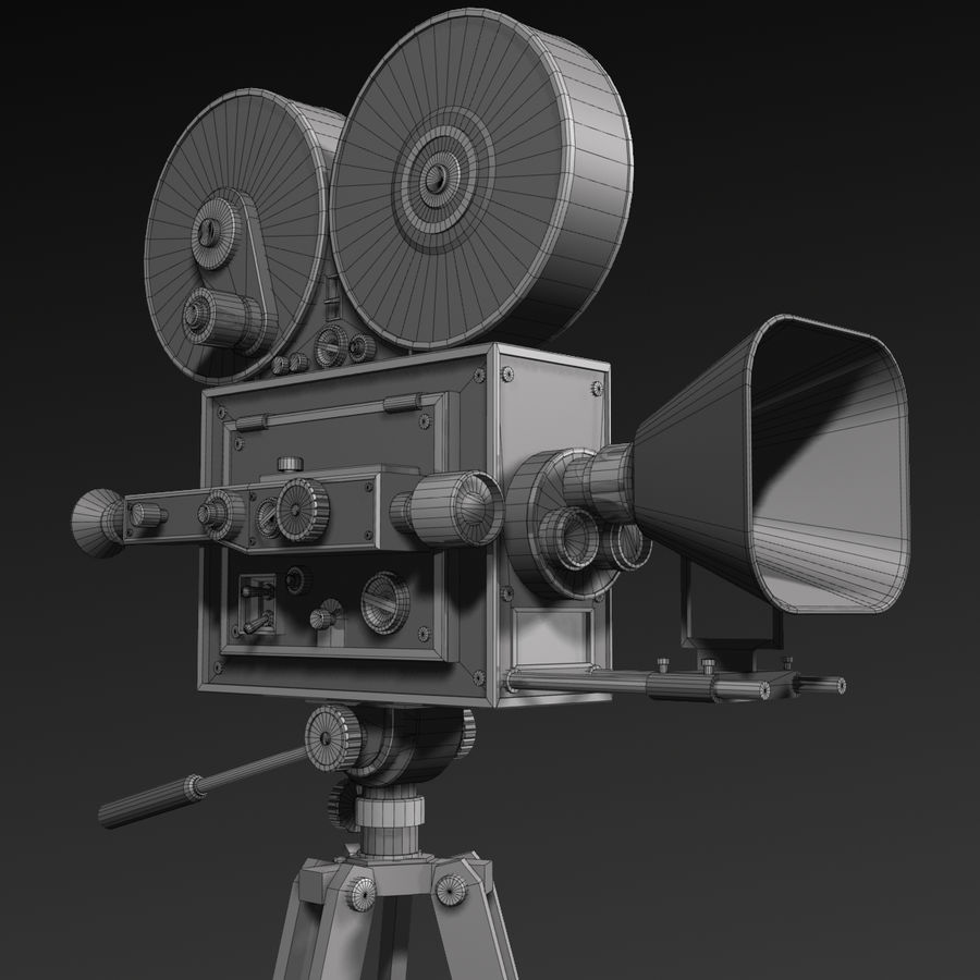 Movie Camera royalty-free 3d model - Preview no. 11