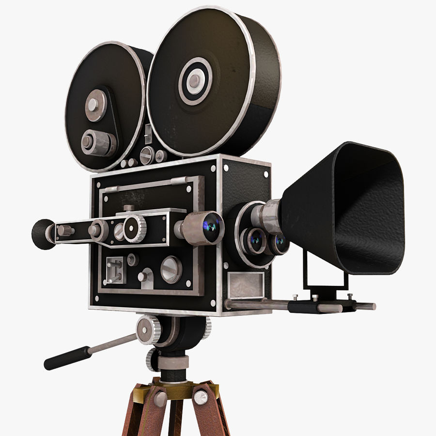 Movie Camera royalty-free 3d model - Preview no. 1