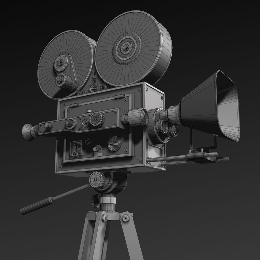 Movie Camera royalty-free 3d model - Preview no. 13