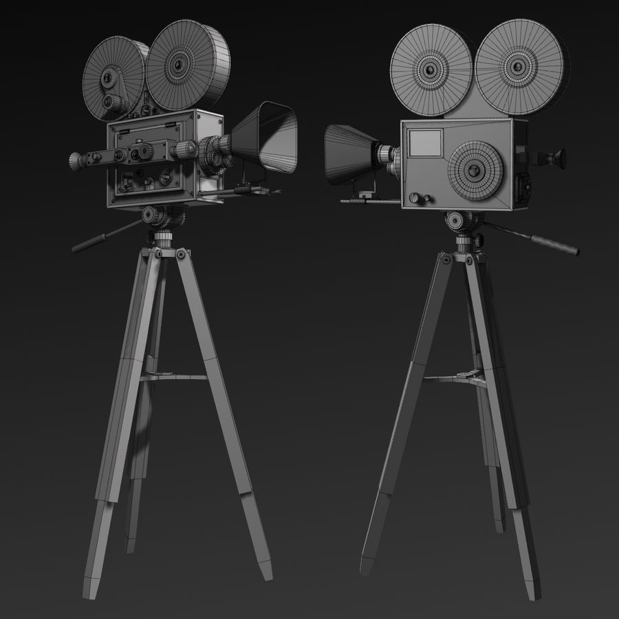 Movie Camera royalty-free 3d model - Preview no. 12