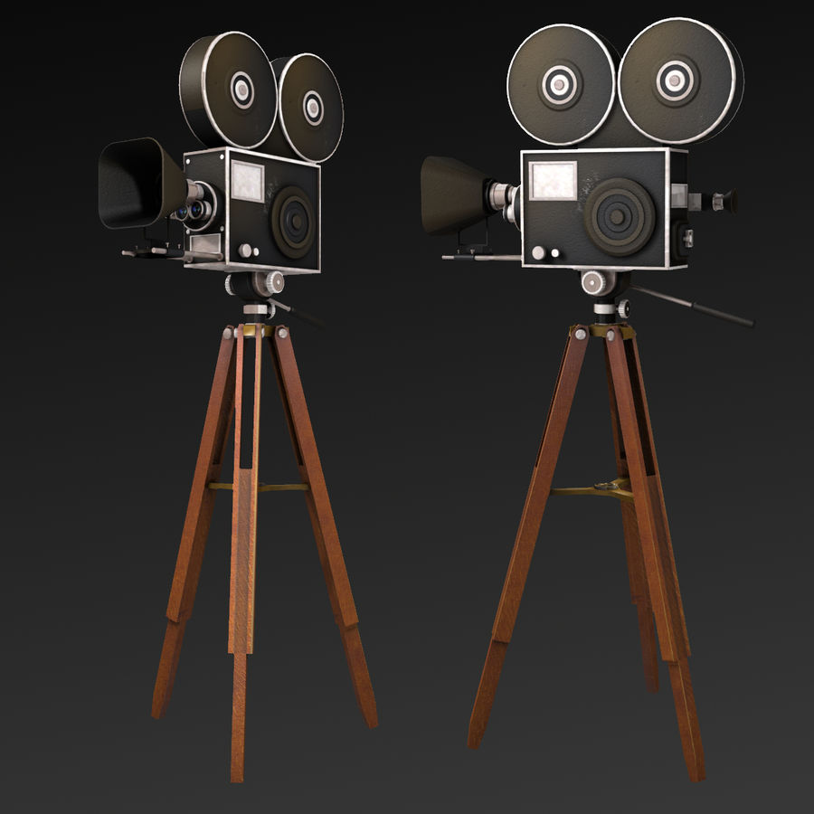 Movie Camera royalty-free 3d model - Preview no. 10