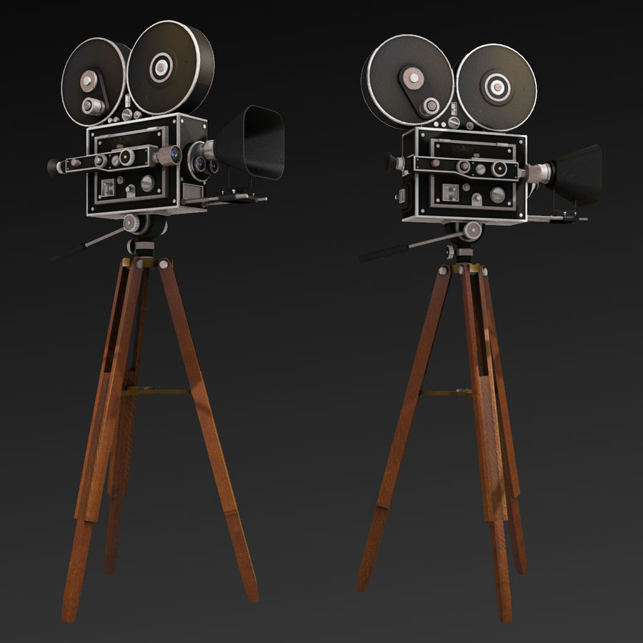Movie Camera royalty-free 3d model - Preview no. 9