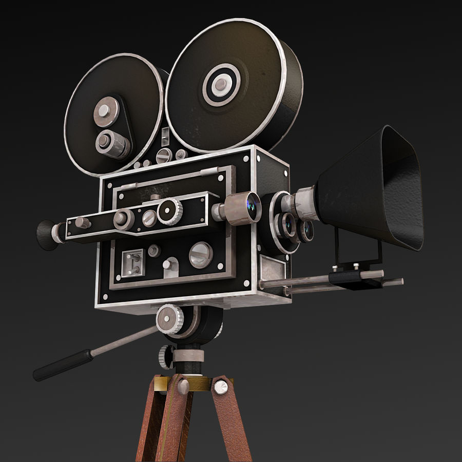 Movie Camera royalty-free 3d model - Preview no. 4