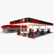 Texaco Petrol Station 3d model