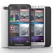 Blackberry Z30 Smartphone Black And White 3d model