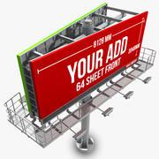 Billboard 64 Sheet 3d model