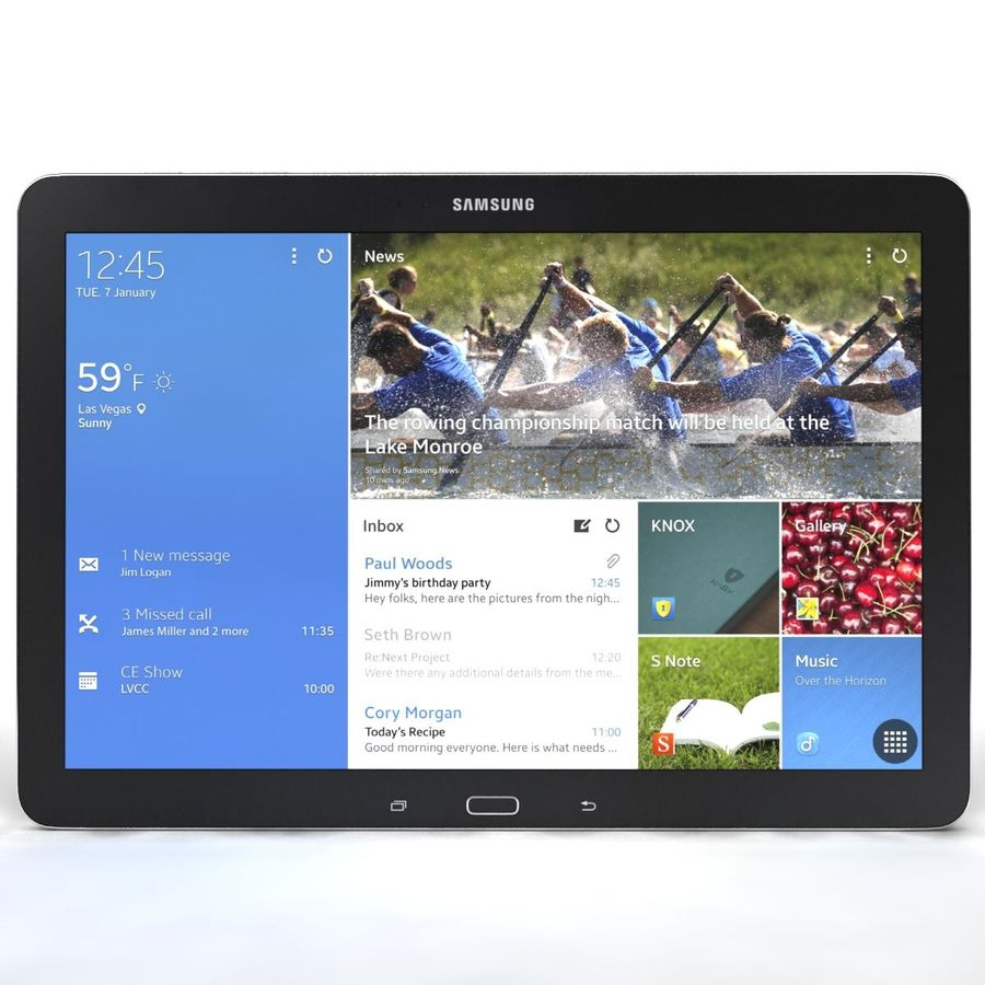 Samsung Galaxy Tab Note 12.2 royalty-free 3d model - Preview no. 7