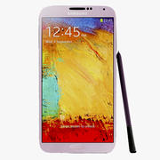 Samsung Galaxy Note 3 Neo Pink 3d model
