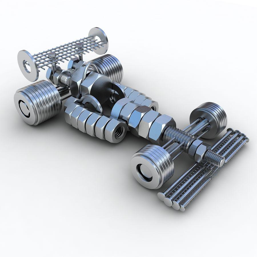 Formule 1 royalty-free 3d model - Preview no. 3