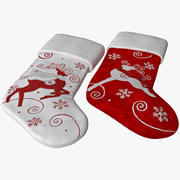 Christmas Stocking Collection 3d model