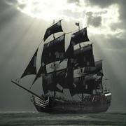 Galeão pirata 3d model