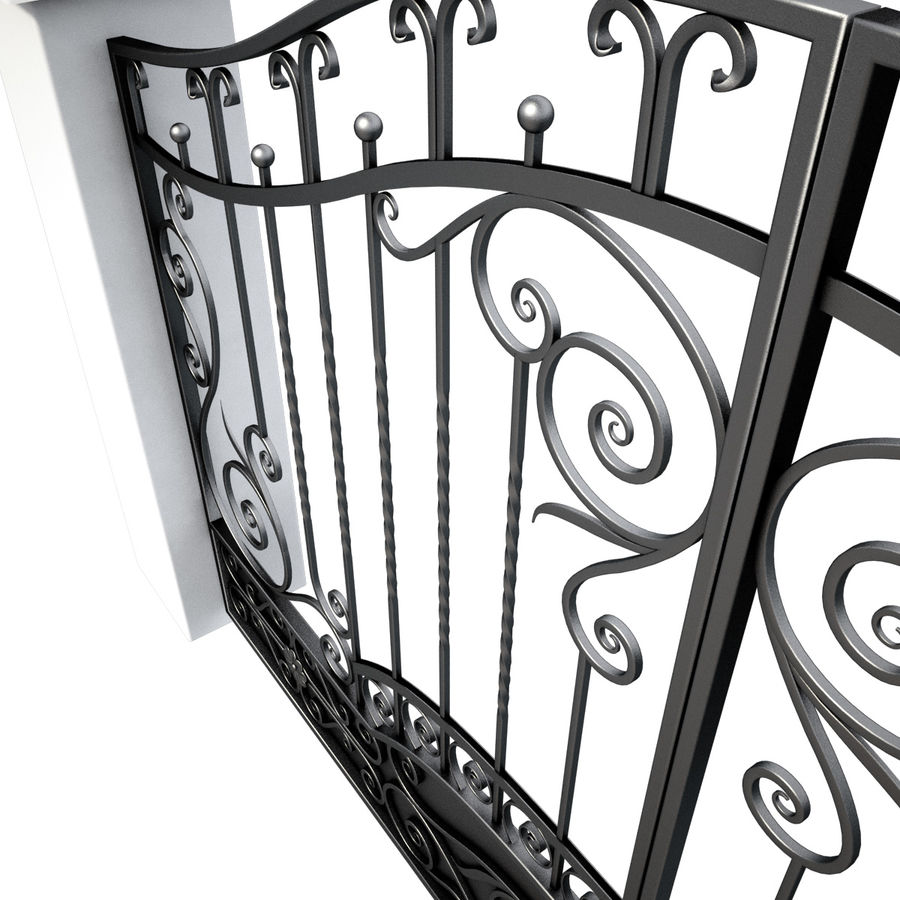 Wrought Iron Gate royalty-free 3d model - Preview no. 12