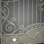 Wrought Iron Gate 3d model