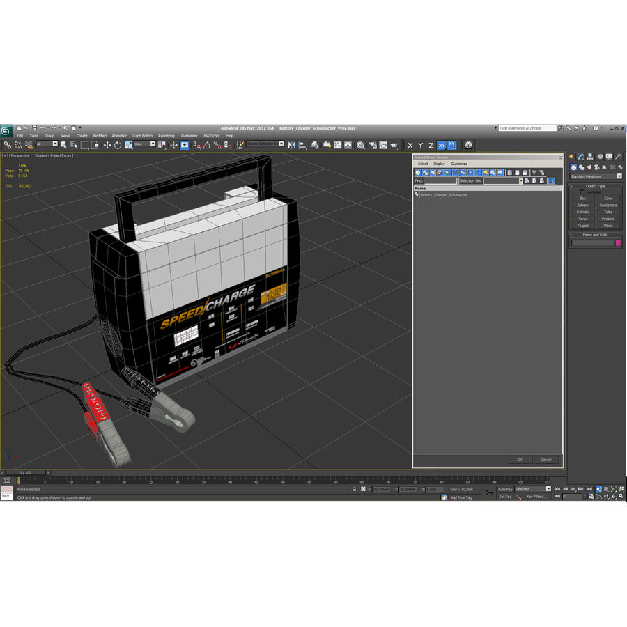 Battery Charger Schumacher royalty-free 3d model - Preview no. 6