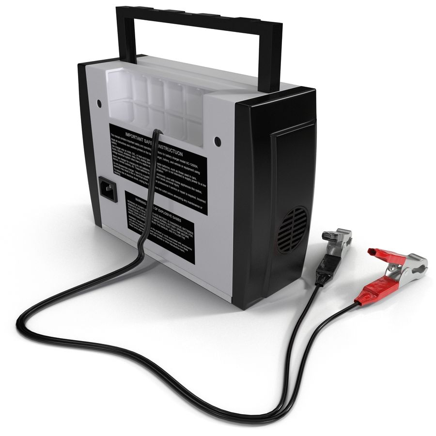 Battery Charger Schumacher royalty-free 3d model - Preview no. 10