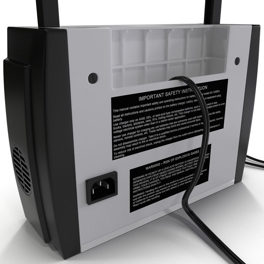 Battery Charger Schumacher royalty-free 3d model - Preview no. 17
