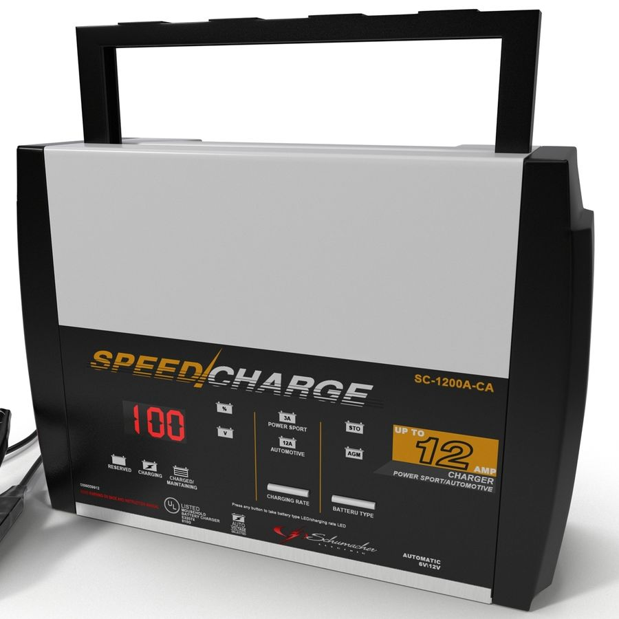 Battery Charger Schumacher royalty-free 3d model - Preview no. 13