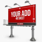 Billboard 48 arks dubbelpelare 3d model