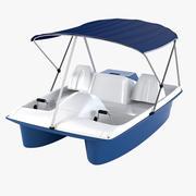 Water Wheeler Pedal Boat 3d model