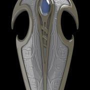 Elven Shield 3d model