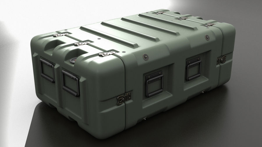 Military Crate 01 royalty-free 3d model - Preview no. 2