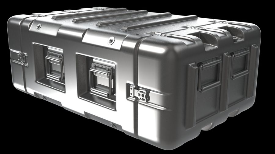 Military Crate 01 royalty-free 3d model - Preview no. 5