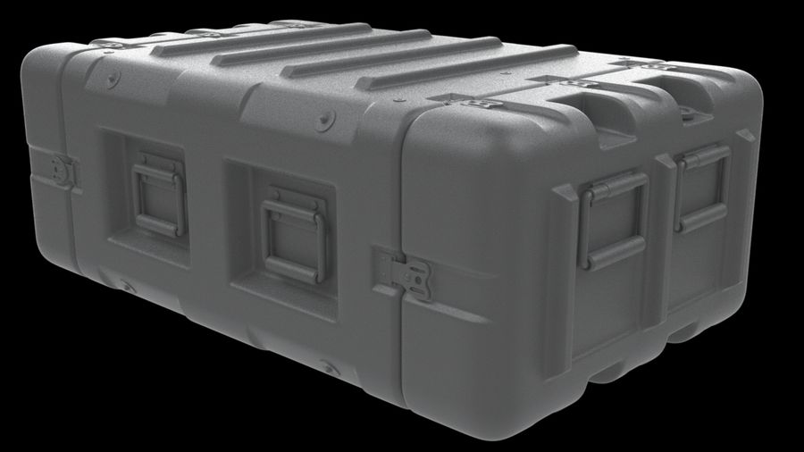 Military Crate 01 royalty-free 3d model - Preview no. 6