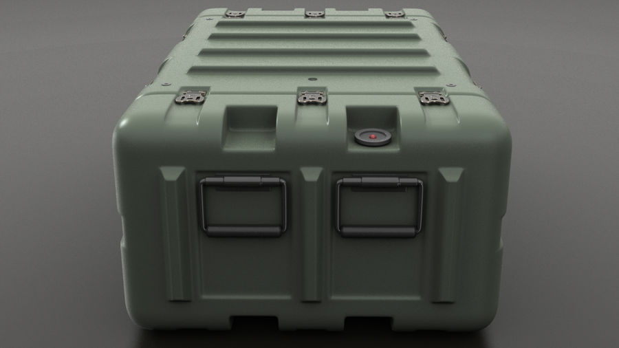Military Crate 01 royalty-free 3d model - Preview no. 3
