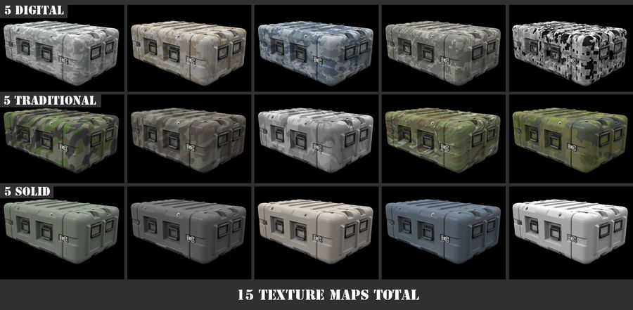 Military Crate 01 royalty-free 3d model - Preview no. 7