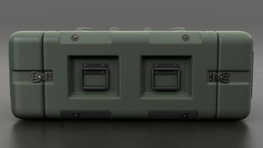 Military Crate 01 royalty-free 3d model - Preview no. 4