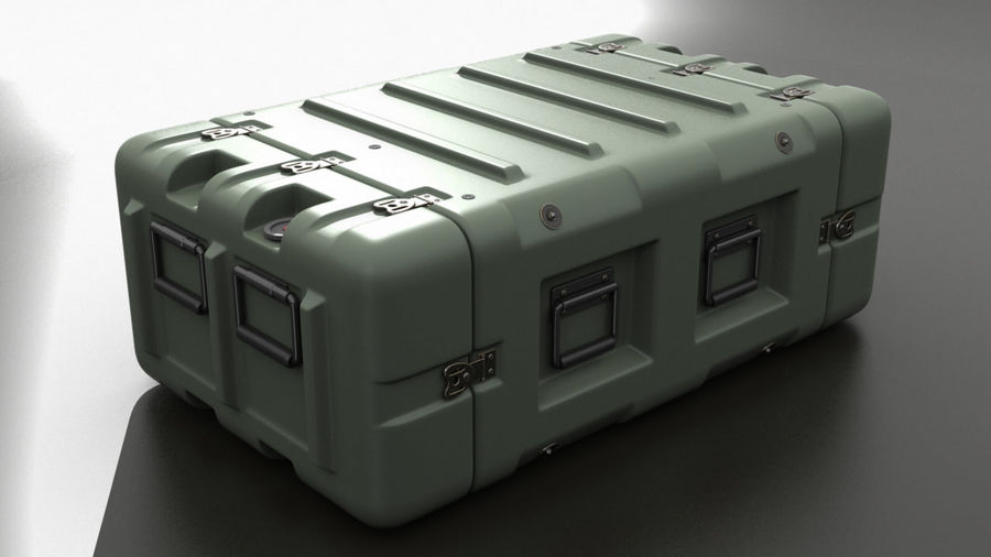 Military Crate 01 royalty-free 3d model - Preview no. 1