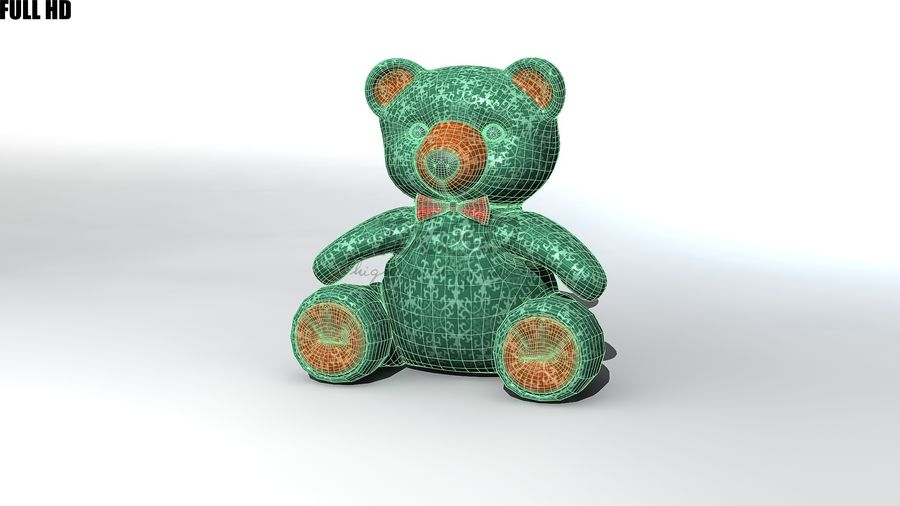 Urso royalty-free 3d model - Preview no. 12
