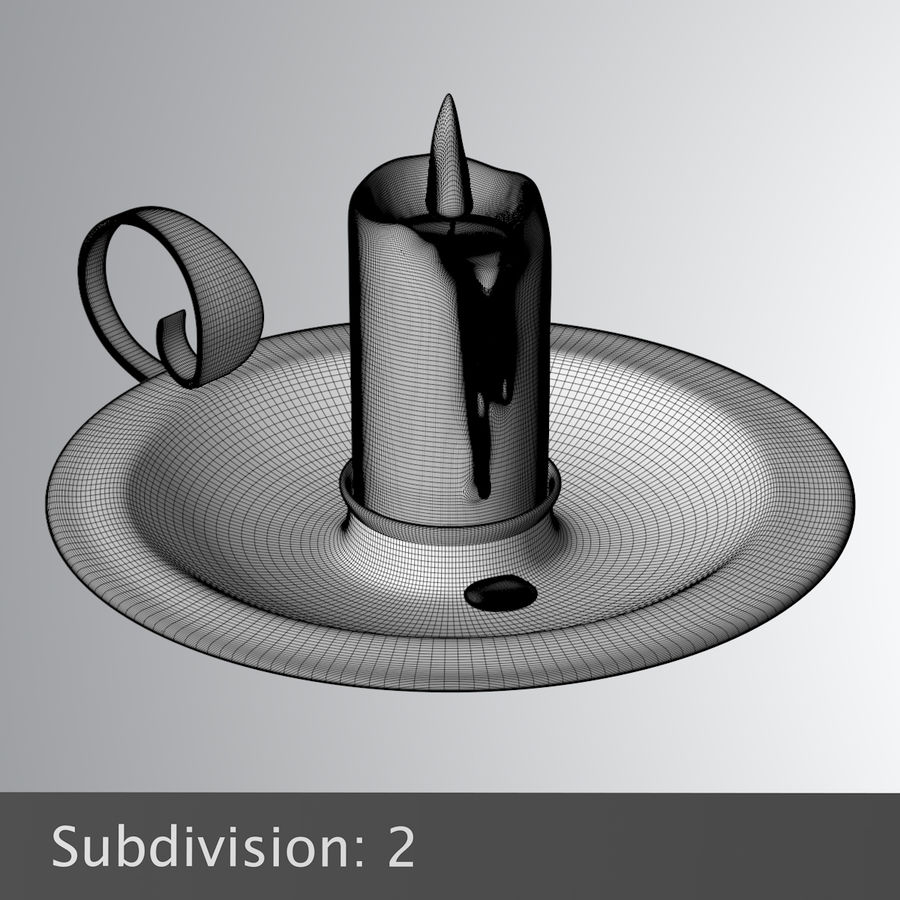 Mumluk Şamdan royalty-free 3d model - Preview no. 11