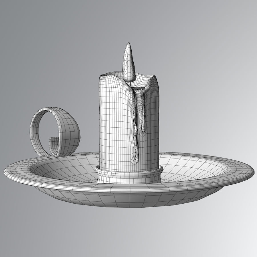Mumluk Şamdan royalty-free 3d model - Preview no. 7